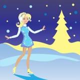 dziewczyn łyżwy Zdjęcie Stock