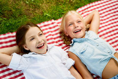 Dziewczyn śmiać się Zdjęcie Royalty Free