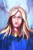 dziewczyn abstrakcjonistyczni ludzie Obrazy Royalty Free