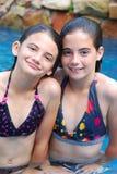 dziewczyn basenu dopłynięcie Obraz Royalty Free