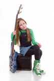 dziewczyn basowi błękitny potomstwa Zdjęcie Stock