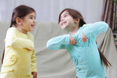 dziewczyn bawić się Zdjęcie Stock