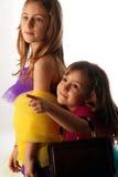 dziewczyn bawić się mały zdjęcie stock