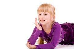 dziewczyn blond potomstwa Zdjęcia Royalty Free