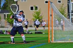 dziewczyn bramkarza lacrosse Obrazy Royalty Free