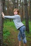 dziewczyn drewna Zdjęcie Royalty Free