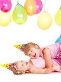 dziewczyn kapeluszy trochę partyjny bawić się Obraz Royalty Free
