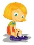 Dziewczyn klamer buty Zdjęcie Royalty Free