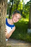 dziewczyn ogrodowi potomstwa Obrazy Royalty Free