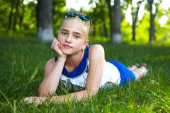 dziewczyn ogrodowi potomstwa Zdjęcie Stock