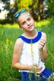 dziewczyn ogrodowi potomstwa Obraz Royalty Free