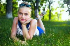 dziewczyn ogrodowi potomstwa Obrazy Stock