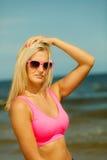 dziewczyn plażowi potomstwa Zdjęcia Royalty Free