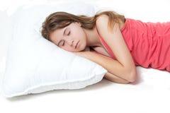 dziewczyn potomstwa ładni sypialni Obrazy Royalty Free