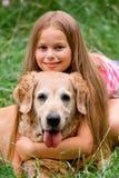 dziewczyn psi potomstwa Zdjęcia Stock