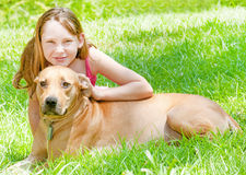 dziewczyn psi potomstwa obraz royalty free