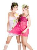 Dziewczyn pyjamas przyjęcie Zdjęcie Royalty Free