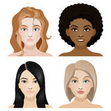 dziewczyn różne narodowości Fotografia Stock