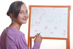 dziewczyn rysunkowi potomstwa Fotografia Stock