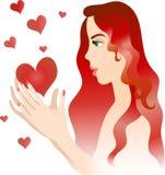 dziewczyn serca ilustracja wektor