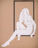 Dziewczyn Silhouettes Obraz Royalty Free