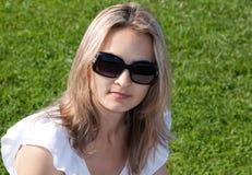dziewczyn sunglasseses Obraz Royalty Free