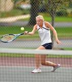 dziewczyn szkoły średniej tenis Zdjęcie Stock