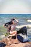 Dziewczyn sztuki z włosy Fotografia Royalty Free