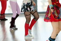 Dziewczyn tanczyć Fotografia Royalty Free