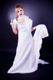 dziewczyn TARGET235_0_ potomstwa Zdjęcie Royalty Free