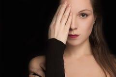 Dziewczyn zakończenia jeden oko Zdjęcie Stock