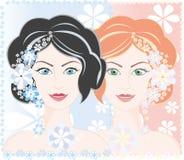 dziewczyn zimni brzmienia grżą Obrazy Royalty Free