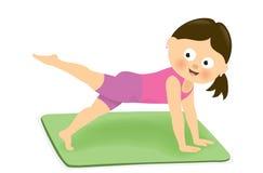 Dziewczyna ćwiczy 2 ilustracja wektor