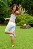 Dziewczyna ładny azjatykci taniec Zdjęcie Stock