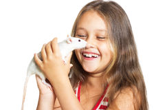 dziewczyna śmieje się trochę Zdjęcia Stock