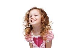 dziewczyna śmieje się trochę Zdjęcia Royalty Free