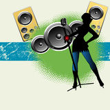 dziewczyna śpiew głośny muzyczny Zdjęcia Stock