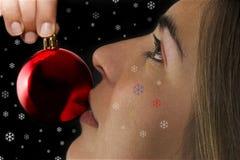 dziewczyna świąteczne zdjęcie stock