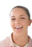 dziewczyna świderkowaty język. Obrazy Royalty Free