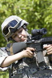 dziewczyna żołnierz Obrazy Royalty Free