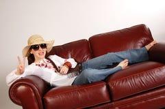 dziewczyna 1 hipis Zdjęcia Stock