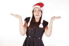 dziewczyna ładny Santa Zdjęcia Royalty Free