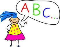 dziewczyna alfabet Obrazy Royalty Free