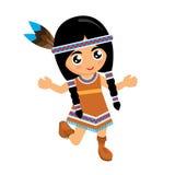 Dziewczyna Amerykańsko-indiański Dance1 royalty ilustracja