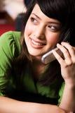 dziewczyna azjatykci telefon Obrazy Royalty Free