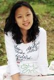 dziewczyna azjatykcia wystarczy uśmiech fotografia stock