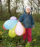 dziewczyna ballons Obraz Royalty Free