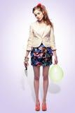 dziewczyna balonowy nóż Fotografia Stock