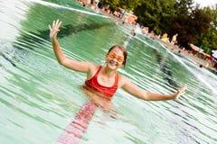 dziewczyna basen Fotografia Stock