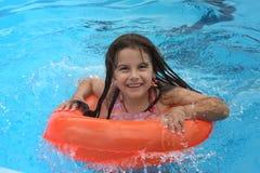 dziewczyna basen Obraz Royalty Free